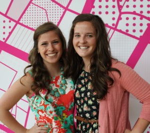 Savannah and I at our Graphic Design Senior Show